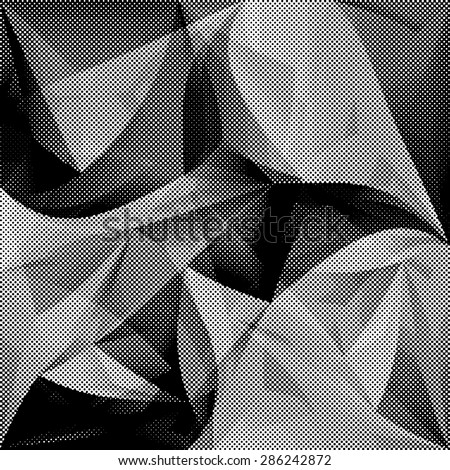 Grunge Halftone Dots Vector Seamless Pattern . Dotted Abstract Vector Texture . Triangular Dotted Background.  - stock vector