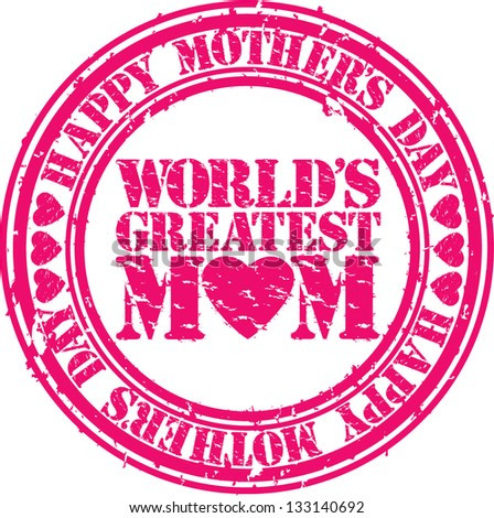 Grunge Happy Mothers Day Rubber Stamp Vector Illustration