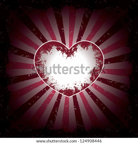 Grunge heart. Abstract background. Vector illustration EPS10
