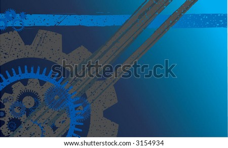 grunge industrial background - stock vector