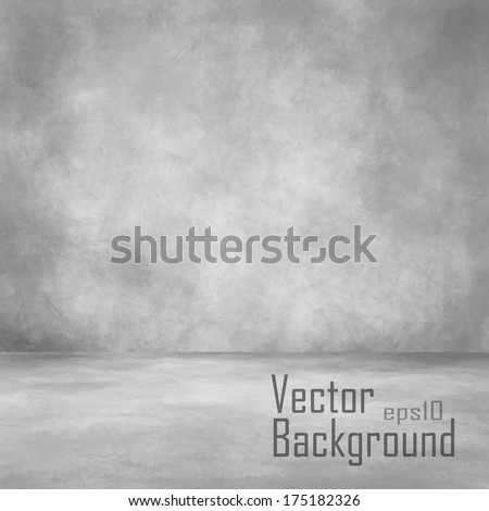 Grunge interior. Vector background. - stock vector