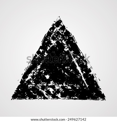Grunge Isolated Triangle Shape. Distressed Texture.