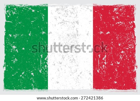 Grunge Italy flag.Italian flag with grunge texture.Vector template. - stock vector