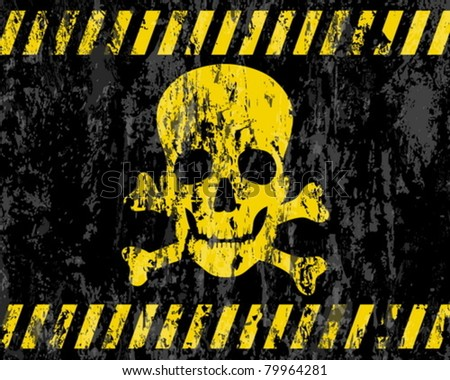 grunge jolly roger background. Vector illustrator.