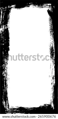Grunge long frame - stock vector