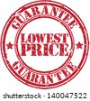 Grunge lowest price guarantee rubber stamp, vector illustration - stock photo