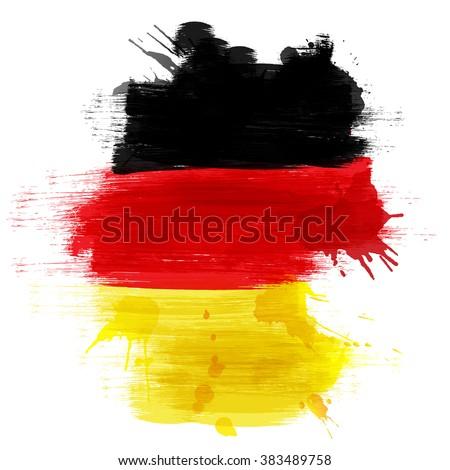 Grunge Map Germany German Flag Stock Vector 383489758 Shutterstock