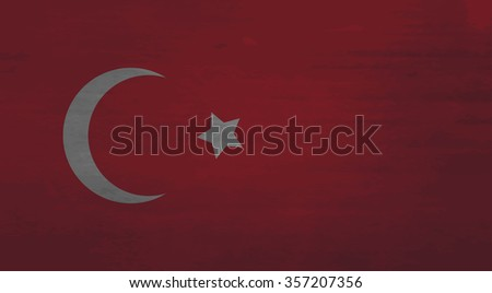 Grunge messy flag Turkey. Turkish government, patriot nationality, material backdrop with effect. Vector art design abstract unusual fashion illustration - stock vector