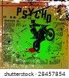 grunge motocross vector - stock vector