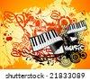 grunge music vector illustrator - stock