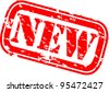 Grunge new rubber stamp, vector illustration - stock vector