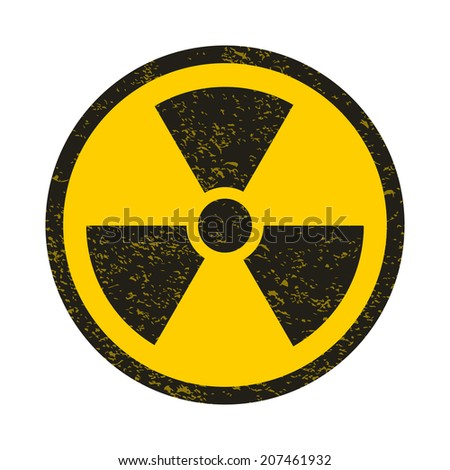 Grunge nuclear symbol vector illustration - stock vector