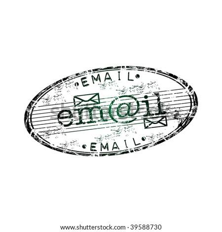 Red Grunge Rubber Stamp Envelope Symbols Stock Vector 39249460 ...