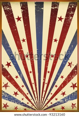 grunge old flag. A poster like a grunge flag background. - stock vector