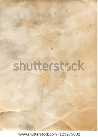 Grunge old paper background. - stock vector