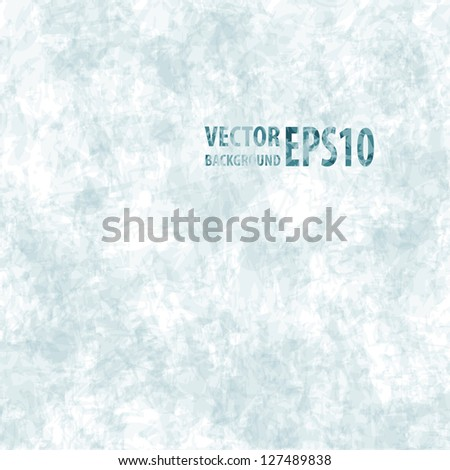 Grunge old paper texture, vector blue background