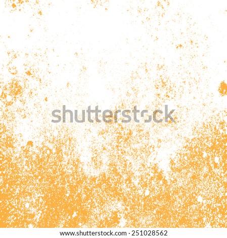 Grunge orange background vector light box  - stock vector