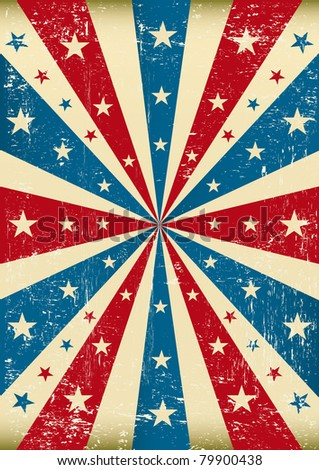 grunge patriotic poster. A new patriotic poster with a texture - stock vector