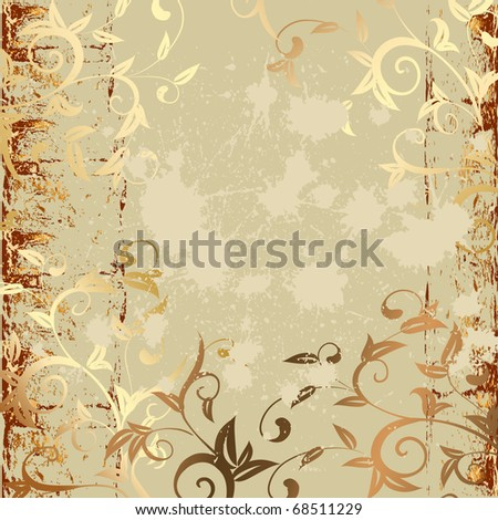 grunge pattern gold - stock vector