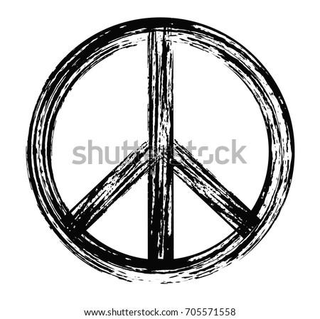 grunge peace signvector dirty peace symbol stock photo photo rh shutterstock com peace sign vector free peace sign vector clip art