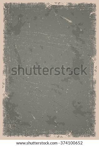 Grunge poster background with scratches, spots and textured frame