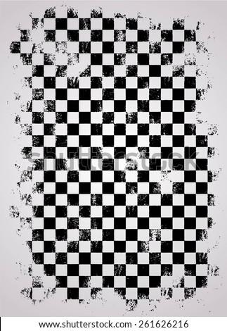 grunge racing flag - stock vector
