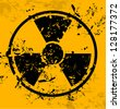 Grunge Radiation sign - stock photo