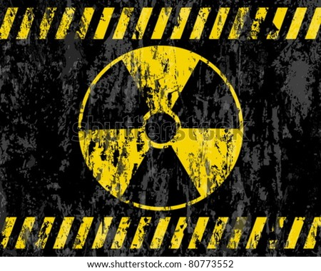 grunge radiation sign background. Vector illustrator.