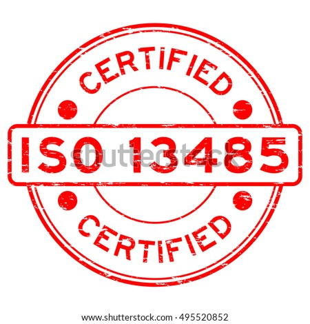 Grunge Red ISO 13485 Certified Rubber Stock Photo (Photo, Vector ...