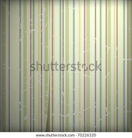 Grunge retro 70s striped wallpaper - stock vector