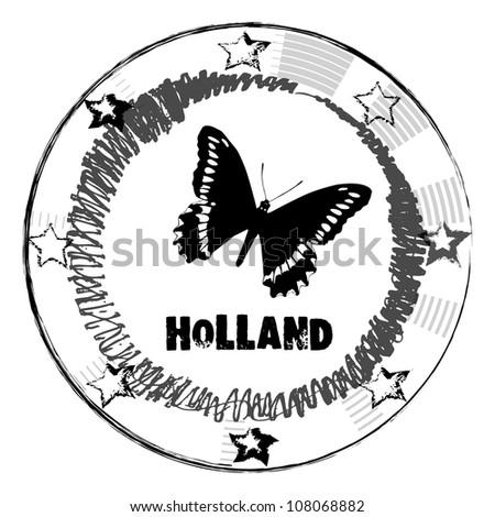 Grunge rubber stamp. Holland vector illustration. - stock vector