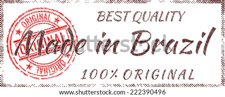 Grunge rubber stamp  Made in Brazil - stock vector