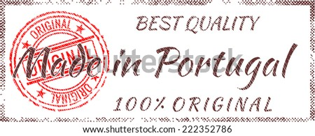 Grunge rubber stamp  Made in Portugal  - stock vector
