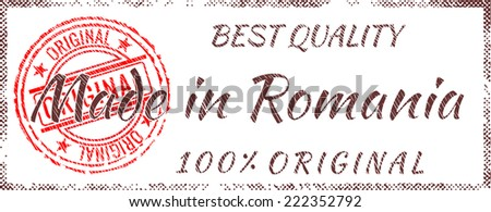 Grunge rubber stamp  Made in Romania - stock vector