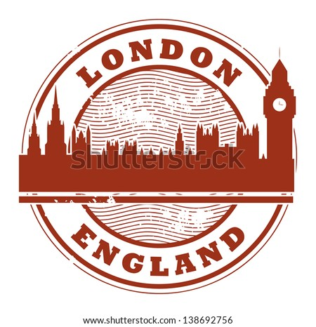 Grunge rubber stamp with London, England inside, vector illustration - stock vector
