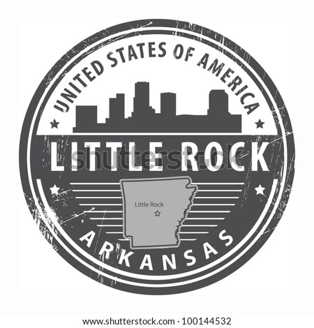 Grunge rubber stamp with name of Arkansas, Little Rock, vector illustration - stock vector