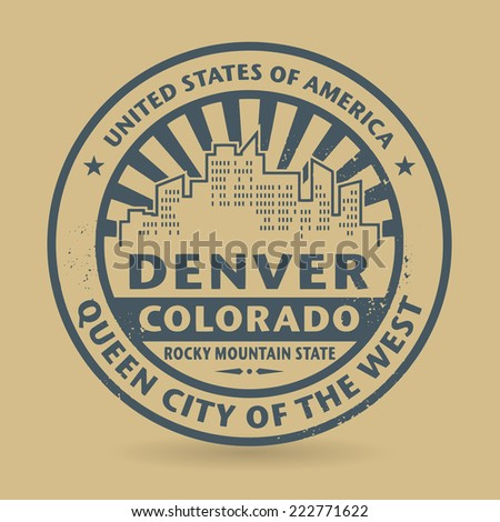 Grunge rubber stamp with name of Denver, Colorado, vector illustration - stock vector
