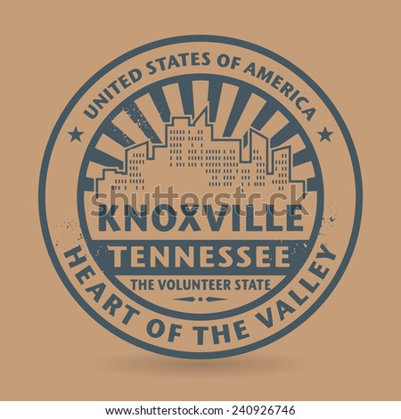 Grunge rubber stamp with name of Knoxville, Tennessee, vector illustration