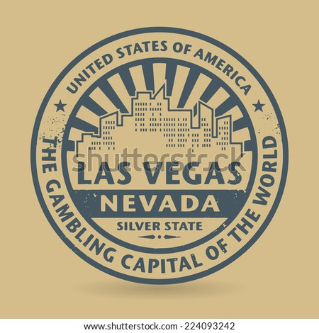 Grunge rubber stamp with name of Las Vegas, Nevada, vector illustration - stock vector