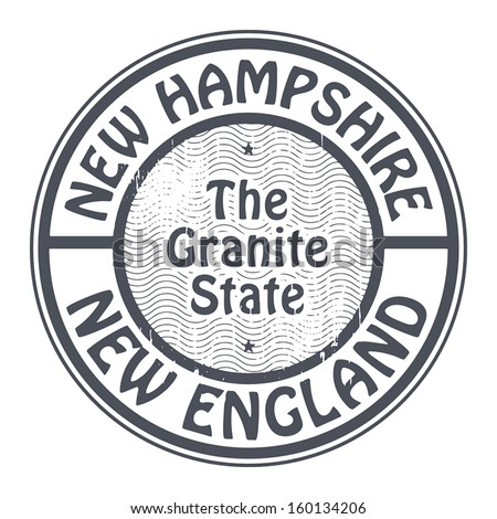 Grunge rubber stamp with name of New Hampshire, New England, vector illustration