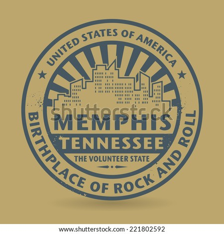Grunge rubber stamp with name of Tennessee, Memphis, vector illustration
