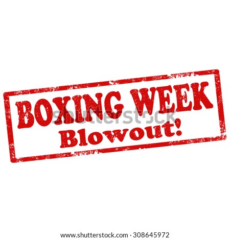 Grunge rubber stamp with text Boxing Week,vector illustration - stock vector