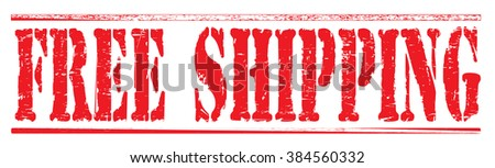 "Grunge rubber stamp with text ""free shipping"",vector illustration"