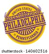 Grunge rubber stamp with text Greetings from Philadelphia, Pennsylvania, vector illustration - stock vector