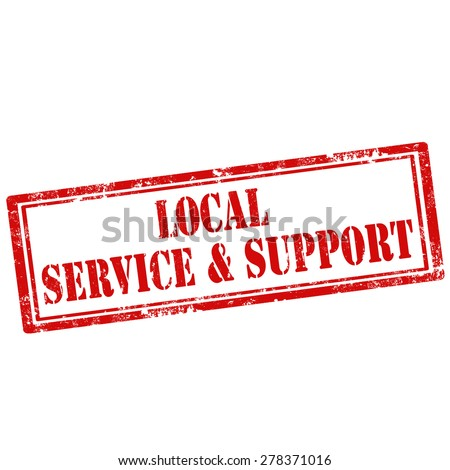 Grunge rubber stamp with text Local Service & Support,vector illustration - stock vector