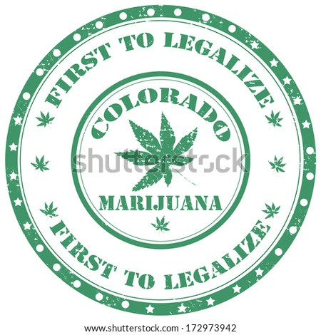 Grunge rubber stamp with text  Marijuana-First To Legalize,vector illustration