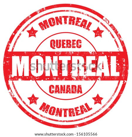 Grunge rubber stamp with text Montreal-Canada,vector illustration