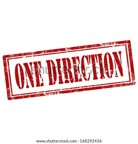 Grunge rubber stamp with text One Direction,vector illustration - stock vector