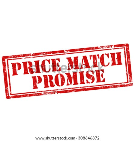 Grunge rubber stamp with text Price Match Promise,vector illustration - stock vector