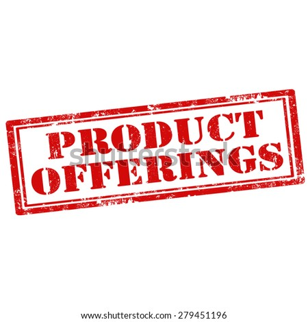 Grunge rubber stamp with text Product Offerings,vector illustration - stock vector
